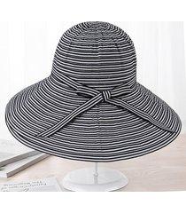 sombrero para mujer, l sol del verano del las sombrero-negro