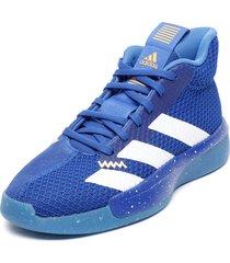 zapatilla de basketball pro next 2019 azul adidas performance