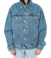 crest flag trucker jeans jacket