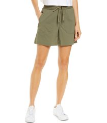 l.l.bean women's vista ripstop camp shorts, size medium in dusty olive at nordstrom