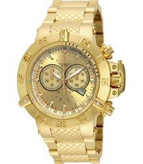 reloj invicta 1450g dorado acero inoxidable