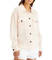sanctuary cotton textured jacket