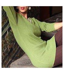 alpaca blend sweater, 'highland forest dream' (peru)