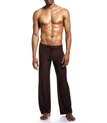 hombres slippery loose breathable cool home pants