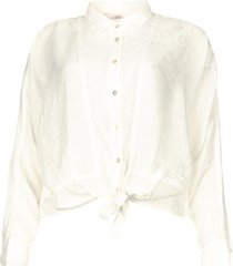 blouse met knoopdetail vanissa  wit