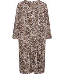 dress short 3/4 sleeve kort klänning brun betty barclay
