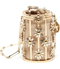 'gelso' floral cage crossbody bag
