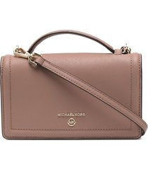 michael kors collection mini leather wallet bag - neutrals