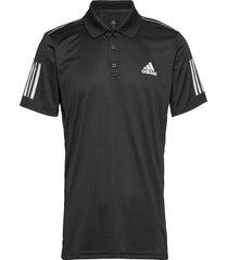 3-stripes club polo shirt polos short-sleeved svart adidas tennis