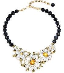 heidi daus women's floral statement necklace