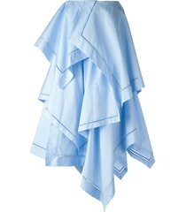 jw anderson paneled layer maxi skirt - blue