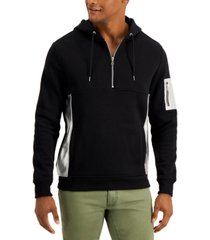 inc men's metallic patch hoodie, created for macy's