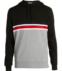 colorblock fleece hoodie