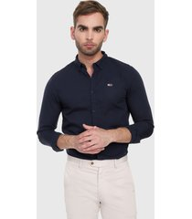 camisa azul oscuro tommy jeans