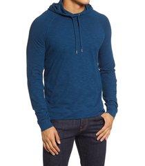 men's good man brand legend slim fit pullover hoodie, size xx-large - blue