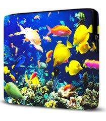 capa para notebook aquã¡rio 15 polegadas - azul - dafiti
