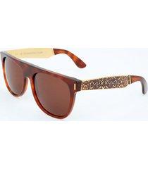 gafas de sol retrosuperfuture flat top francis leopard hee