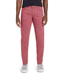 men's big & tall brax sensation 2.0 straight leg stretch dress pants, size 44 x 34 - red