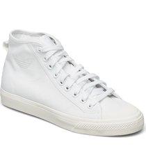 nizza high top höga sneakers vit adidas originals