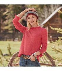 sundance catalog women's aileen ruffle pullover - petites in oat petite 2xs