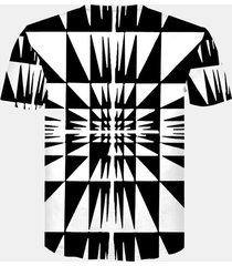 magliette a manica corta da uomo casual con stampa 3d astratta