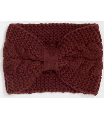 maurices womens berry cable knit knotted headband red