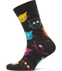 cat sock underwear socks regular socks svart happy socks