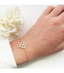 bransoletka z kwiatem stylizowany kwiat