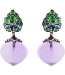 flower bud earrings