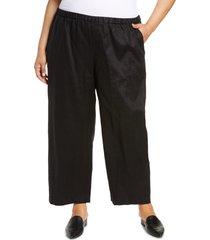 plus size women's eileen fisher ankle pants, size 2x - black