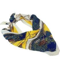 pañuelo amarillo nuevas historias  plisado cuerdas combinado ba1403bis