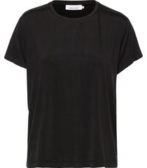 siff tee 6202 t-shirts & tops short-sleeved zwart samsøe & samsøe