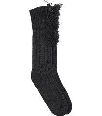 maison margiela socks in black wool
