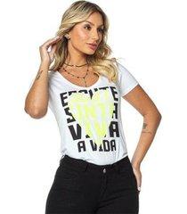 t-shirt daniela cristina gola v profundo 01 602dc10301 branco pp - feminino