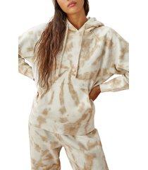 women's reformation tanner organic cotton hoodie, size medium - white