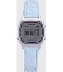 reloj azul-gris casio