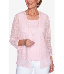 alfred dunner petite classics layered-look necklace top