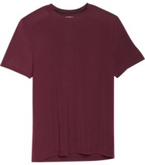 awearness kenneth cole awear-tech modern fit crew neck short sleeve tee pinot noir