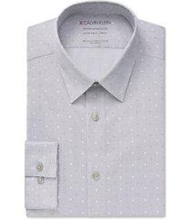 calvin klein men's steel slim-fit non-iron stretch performance greystone dress shirt