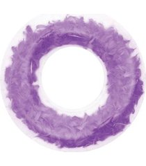 bóia anel inflável anel transparente c/ penas
