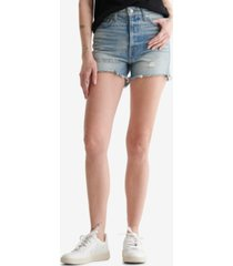 women's lucky patch high rise cut off shorts