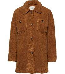 pzteddy jacket outerwear faux fur brun pulz jeans