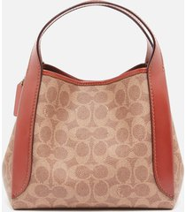 coach women's signature hadley hobo bag 21 - tan rust