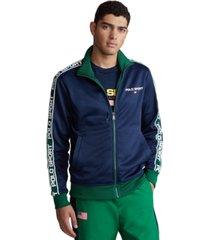 polo ralph lauren men's tricot zip-front fleece sweatshirt