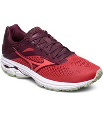 wave rider 23 w shoes sport shoes running shoes röd mizuno