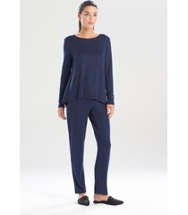 natori calm pajamas / sleepwear / loungewear, women's, blue, size xs natori