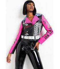 akira azalea wang stone cold crazy graffiti rocker moto jacket