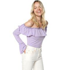 blusa body lila glamorous