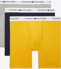 tommy hilfiger men's cotton classics boxer brief 3pk yellow/black/grey - xxl