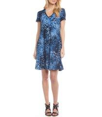 women's karen kane quinn tie dye burnout a-line dress